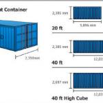 Kích thước container 20feet, 40 feet