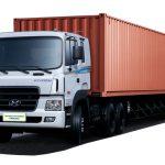 Xe Container 40 feet, 20feet chở hàng hóa.