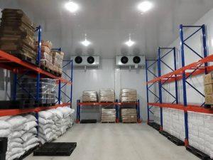 Cho thuê kho lạnh Quận 7 đường Nguyễn Văn Quỳ, DT 55m2 có kệ để hàng tối ưu diện tích sử dụng.